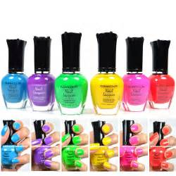 kleancolor nail neon colors lot of 6 lacquer neon