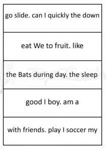 14 best images of sentence order worksheets for