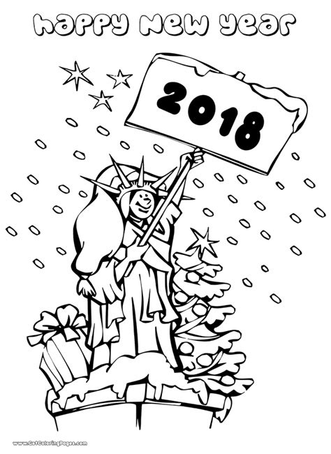coloring pages for the new year happy new year 2018 coloring page coloring pages for new