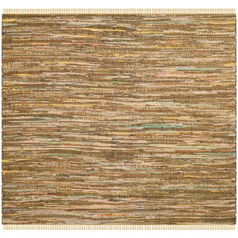 square rag rug safavieh rag rug yellow multi 6 ft x 6 ft square area rug rar127h 6sq the home depot