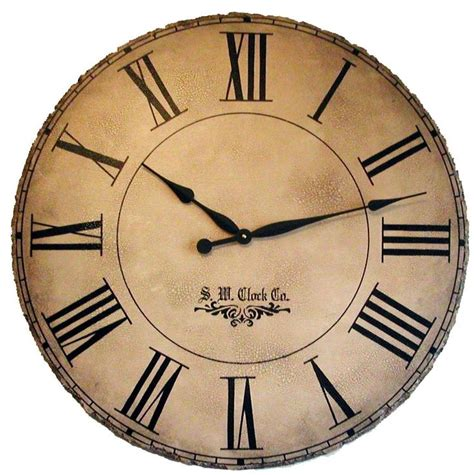 extra large wall clock 36 in grand gallery extra large wall clock roman numerals