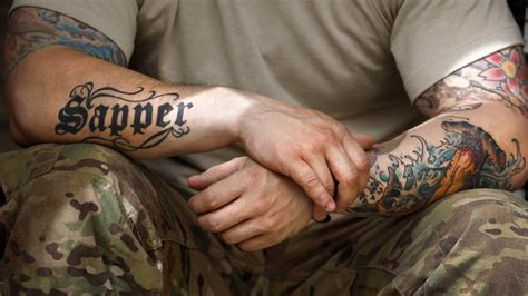 ban tattoos now inked brigade uk army lifts ban on neck tattoos
