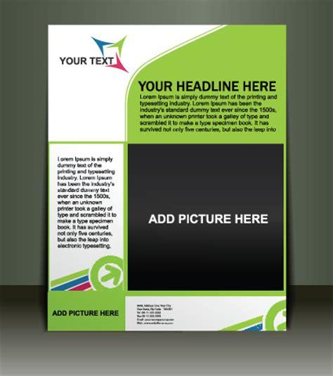 vector template presentation of flyer design 02 vector