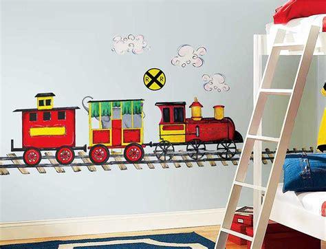 Wandtattoo Kinderzimmer Roommates by Roommates Wandsticker Wandbild Eisenbahn Kinderzimmer
