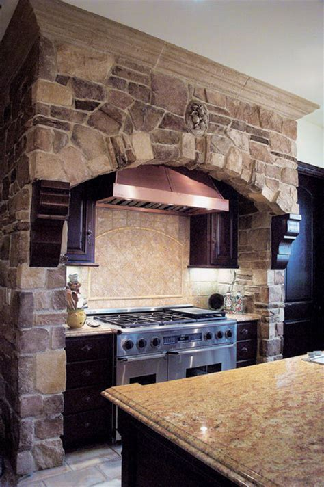 Chimney Decoration Ideas tuscan villa stone veneer kitchen coronado stone veneer