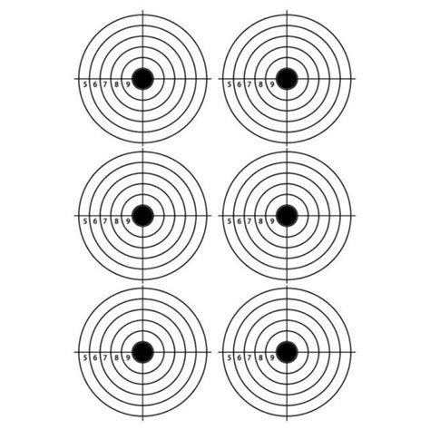printable 22lr targets a4 self adhesive paper target for air rifle pistol gun