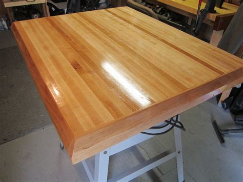 butcher block countertop finish kitchen island countertop by pipewrench lumberjocks