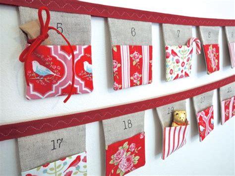 Handmade Fabric Advent Calendar - advent calendar bunting 24 linen flags with beautiful