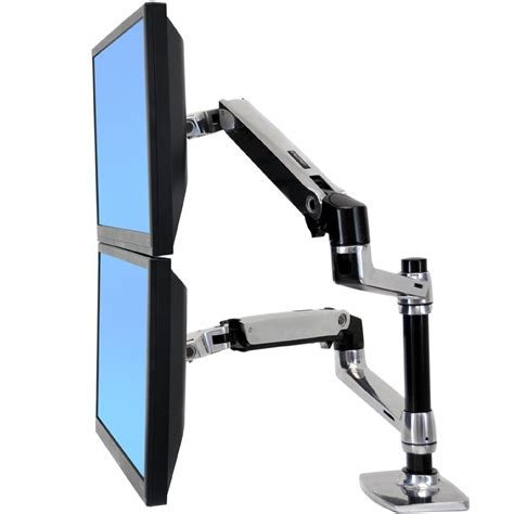 ergotron dual monitor desk mount ergotron 45 248 026 lx dual stacking arm