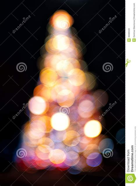 christmas tree with light effect stock photos image