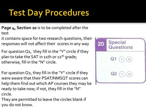 section 20 procedure ppt psat training powerpoint presentation id 2144736