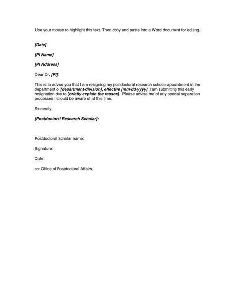 microsoft word resignation letter template resignation