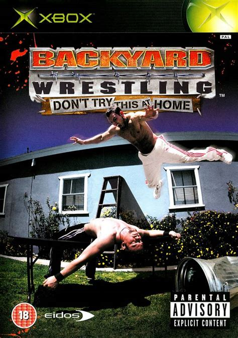 backyard wrestling xbox backyard wrestling don t try this at home box shot for
