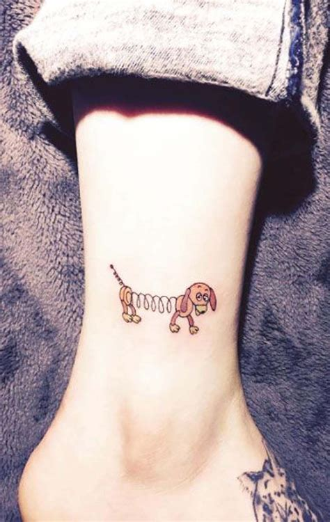 small dog tattoo designs small story slinky ankle ideas for