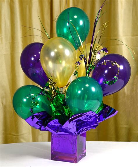 how to make centerpieces mardi gras centerpieces with balloons