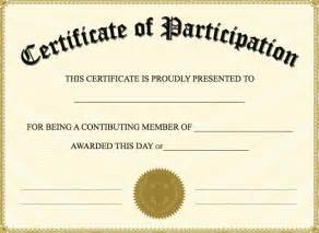 certificate of participation templates free participation certificate templates docs