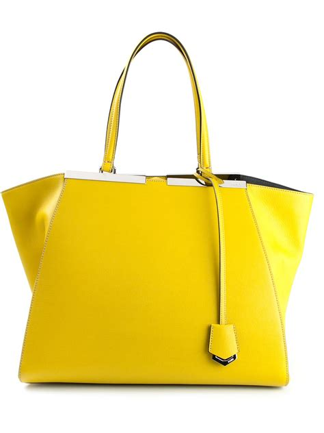 Fendi 3 Jours 1 fendi 3 jours tote in yellow lyst