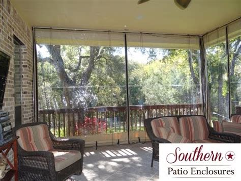 clear plastic curtains for screened porch how 2 install southern patio enclosures clear vinyl patio