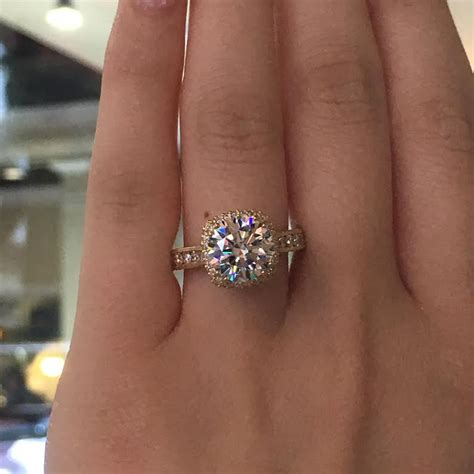 Tacori Engagement Rings Gold Floral Halo Setting by Tacori Engagement Rings Gold Cushion Halo Setting 1 28ctw
