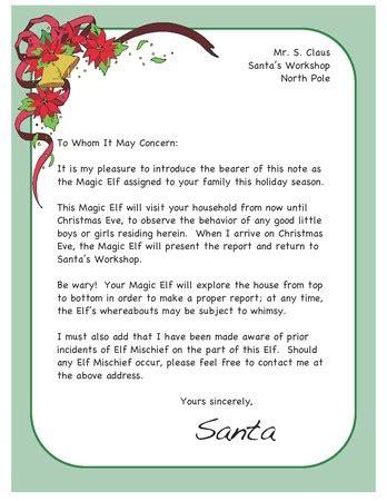 Santa Letter On A Shelf by On The Shelf Arrival Ideas Letter From Santa Etc