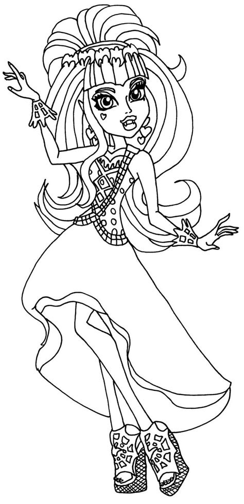 free coloring pages of draculaura baby