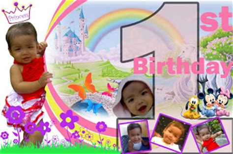 layout design for 1st birthday tarpaulin layout gallery first birthday princess themed