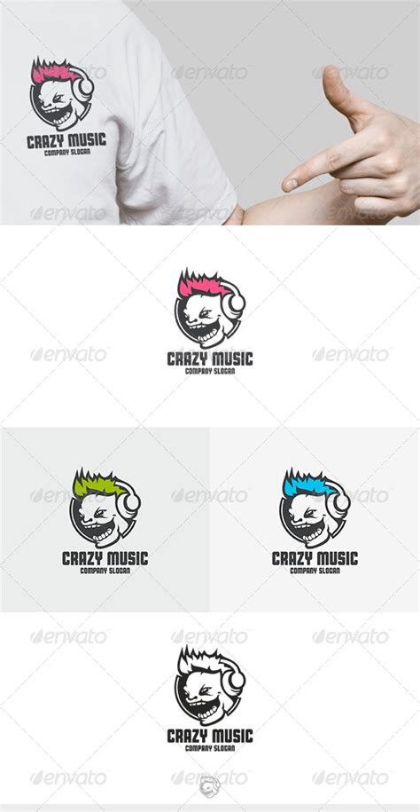 dafont laughing and smiling crazy music logo vector graphic de