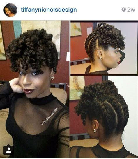 twist hair styles to cover bangs back to front chunky two strand twist curly bang hair