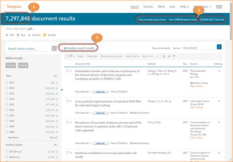 Search Results Get To The Right Information Faster With Scopus Search