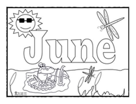 june color coloring page for june sing laugh learn