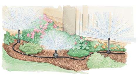 backyard sprinkler system garden sprinkler system buy from gardener s supply