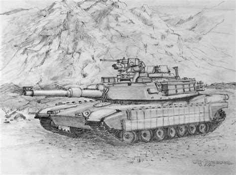 abrams m1 tank drawing by jim hubbard