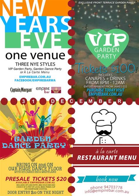 new year menu perth new year s perth and nye events