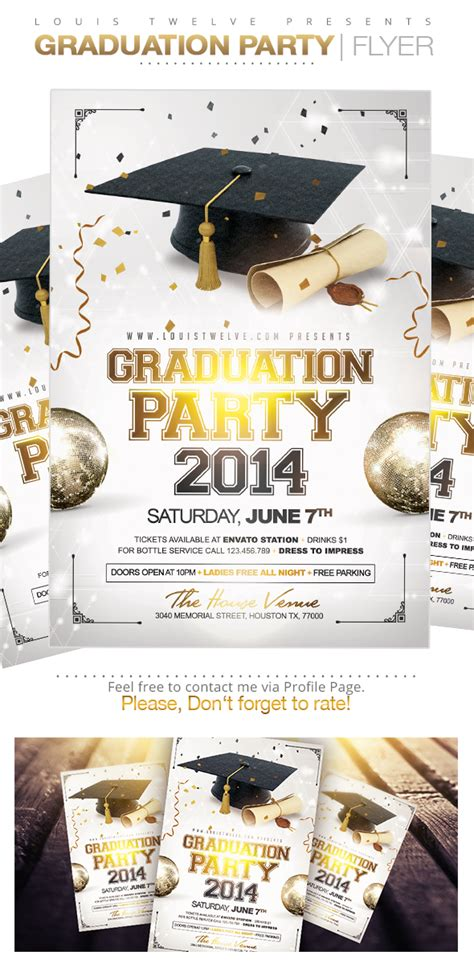 graduation party flyer template on behance