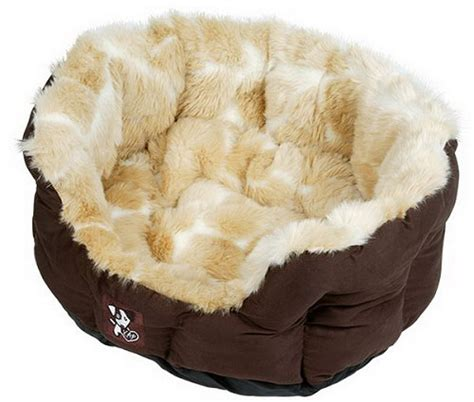 luxurious peluchi faux giraffe fur dog bed petfavors com