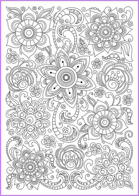 abstract patterns coloring pages pdf flower abstract doodle zentangle coloring pages colouring