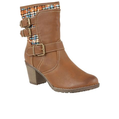 lotus hedera womens casual ankle boots from