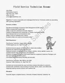 Field Technician Cover Letter by It Field Technical Service Resume