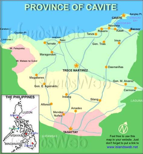 Cavite The by Map Cavite Images