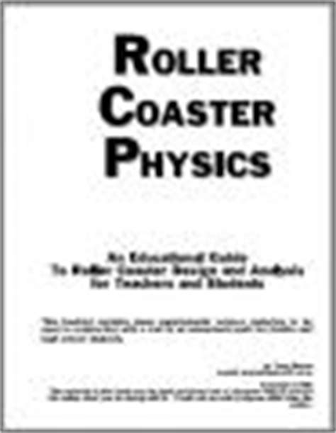 roller coaster design engineer job description roller coaster physics by tony wayne read online