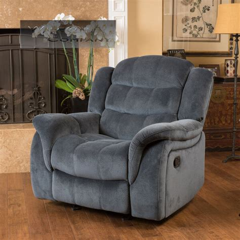 Lazy Boy Chairs Recliners - grey fabric recliner glider lazy chair reclining seat