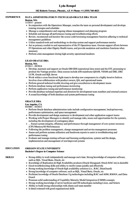 Oracle Dba Resume by Oracle Dba Resume Sles Velvet