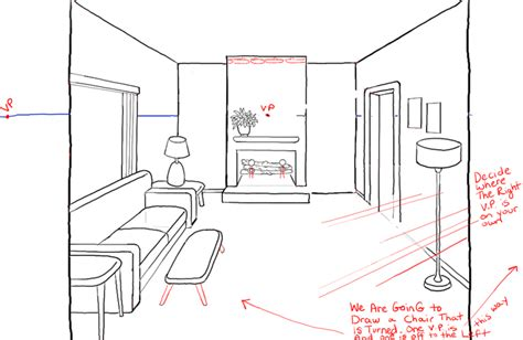draw a room living room drawings home design