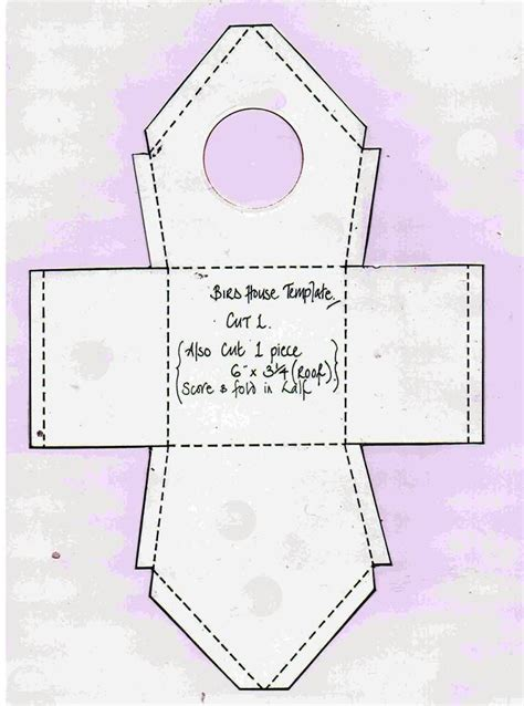 rk bird house template paper crafts pinterest