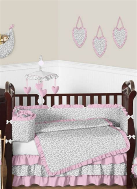 Pink Cheetah Crib Bedding 35 Best Images About Pink And Gray Baby Bedding On Pinterest