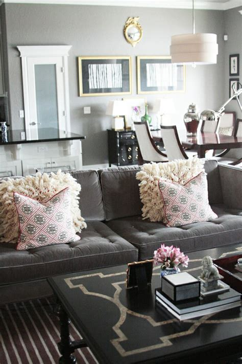 Design Ideas For Grey Velvet Sofa Gray Living Room Charcoal Velvet Sofa Sette Upholstery Living Room Idea Grey Gray
