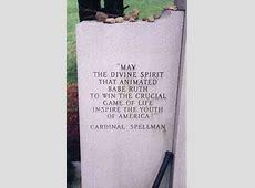 ThedeadballEra.com :: Babe Ruth's Grave Unknowns