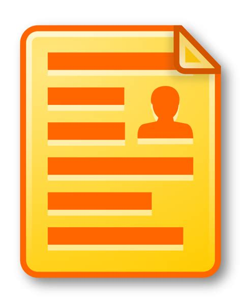 documents clipart clipart icon document yellow