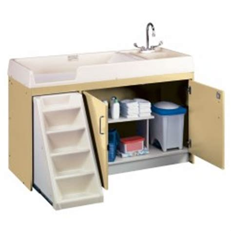 changing table with sink infant toddler care 183 changing supplies