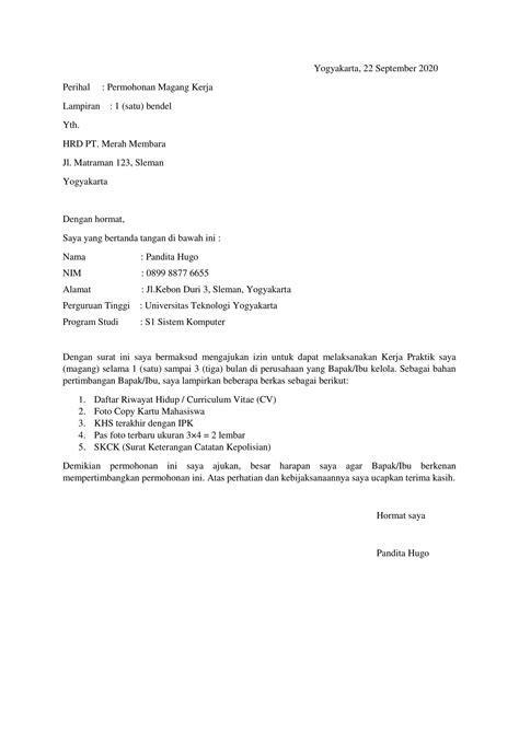 Download 25+ Contoh Surat Lamaran Kerja yang Benar